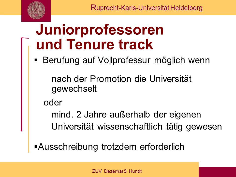 Juniorprofessoren und Tenure track