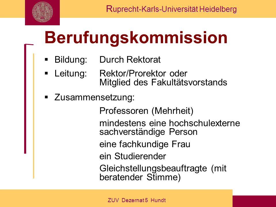 Berufungskommission Bildung: Durch Rektorat