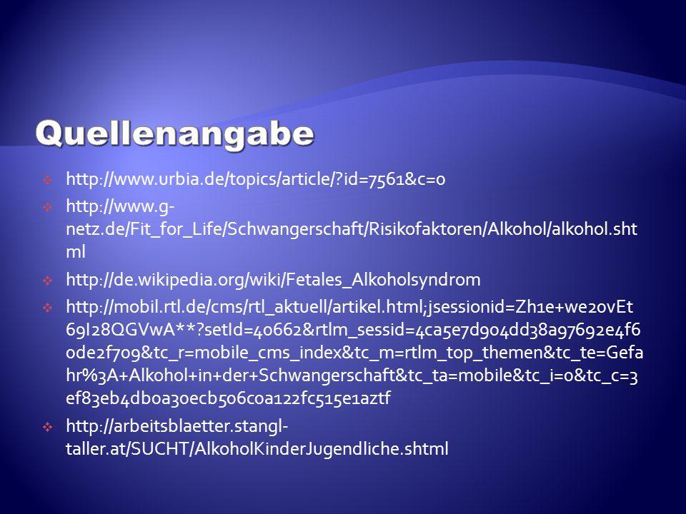 Quellenangabe http://www.urbia.de/topics/article/ id=7561&c=0