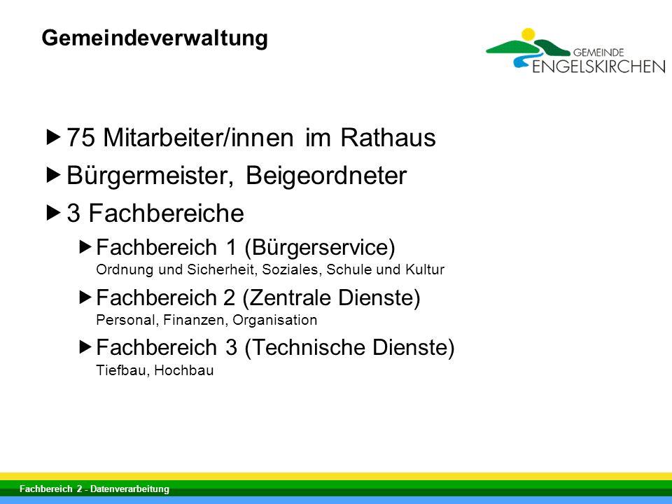 75 Mitarbeiter/innen im Rathaus Bürgermeister, Beigeordneter