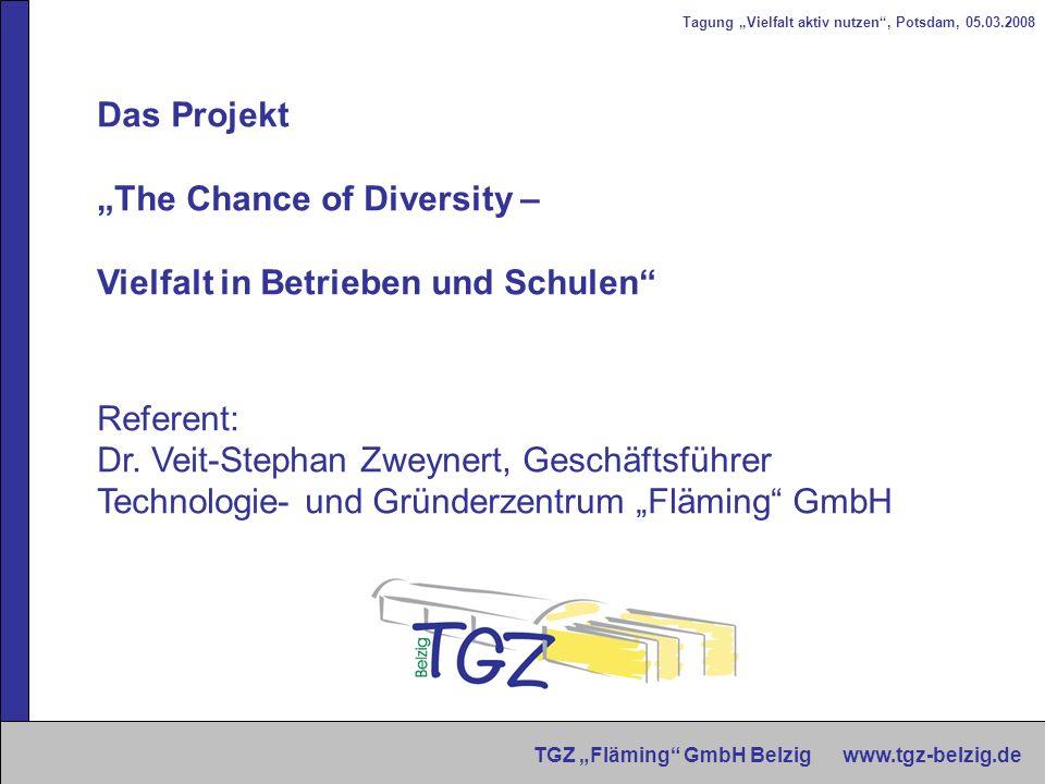 """""""The Chance of Diversity – Vielfalt in Betrieben und Schulen"""