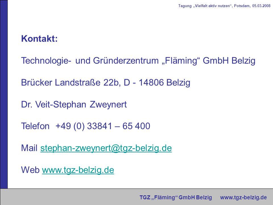 """Technologie- und Gründerzentrum """"Fläming GmbH Belzig"""