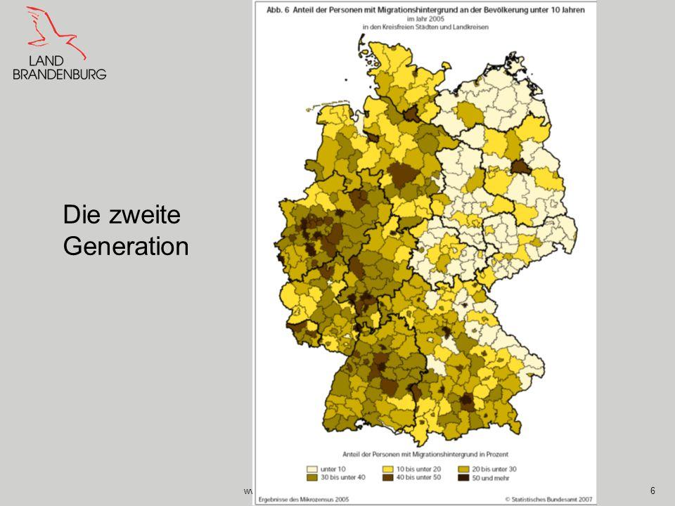 Die zweite Generation www.integrationsbeauftragte.brandenburg.de