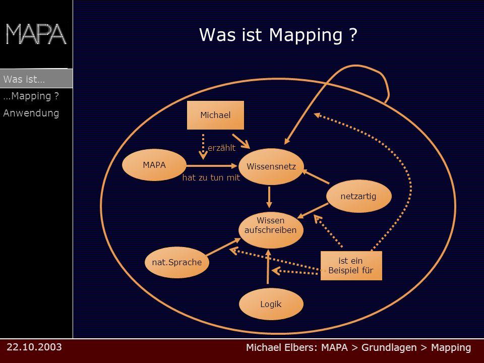 Was ist Mapping Michael erzählt MAPA Wissensnetz hat zu tun mit