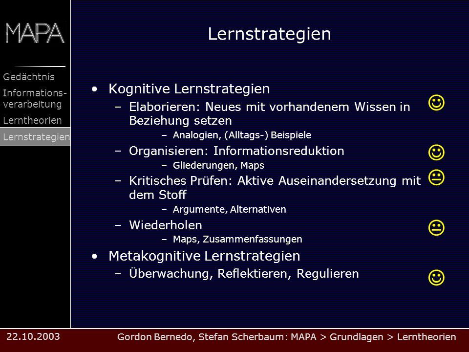   Lernstrategien Kognitive Lernstrategien