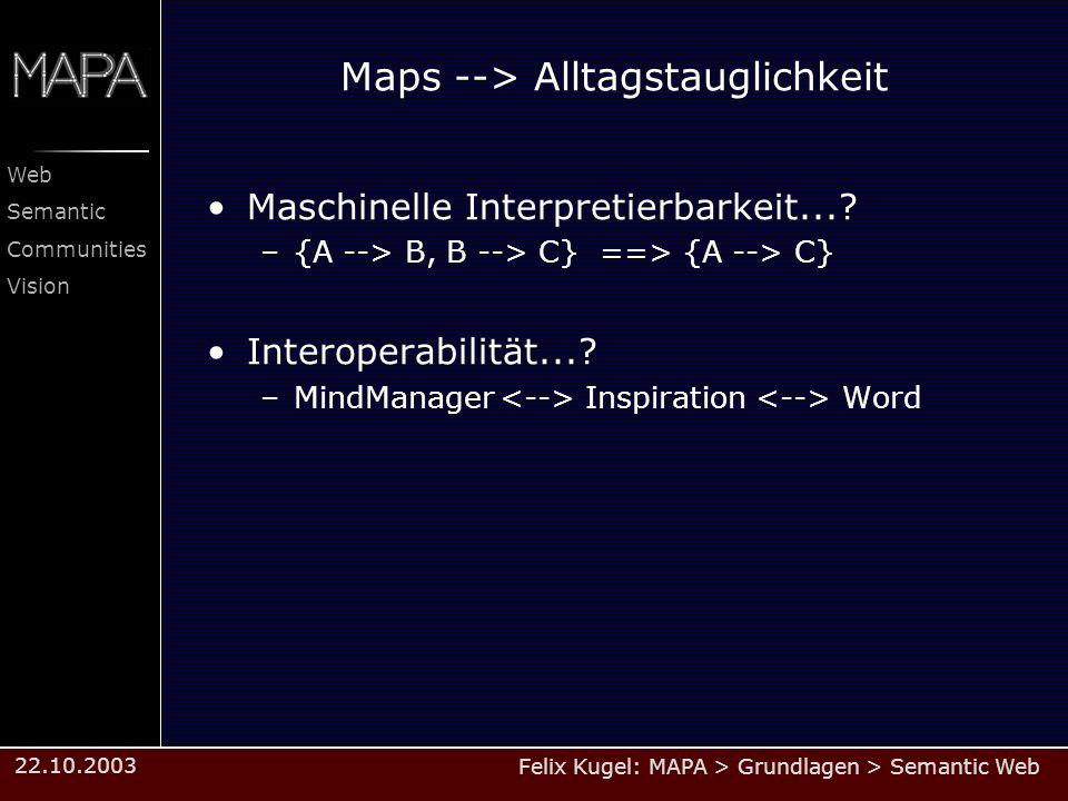 Maps --> Alltagstauglichkeit
