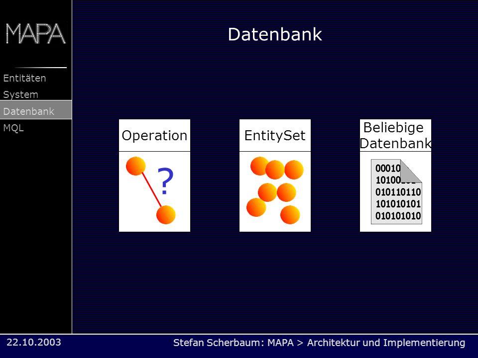 Datenbank Operation EntitySet Beliebige Datenbank