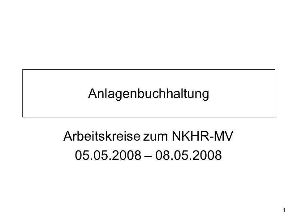 Arbeitskreise zum NKHR-MV 05.05.2008 – 08.05.2008