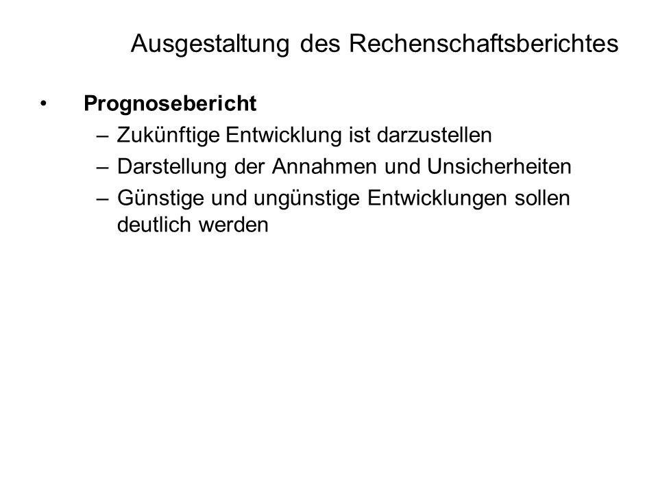 Ausgestaltung des Rechenschaftsberichtes