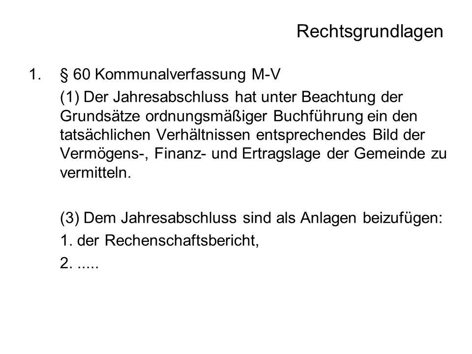 Rechtsgrundlagen § 60 Kommunalverfassung M-V