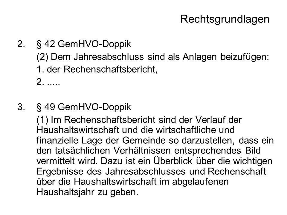 Rechtsgrundlagen § 42 GemHVO-Doppik