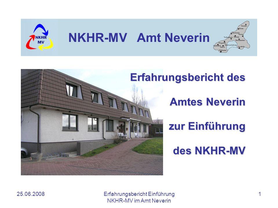 Erfahrungsbericht des Amtes Neverin zur Einführung des NKHR-MV