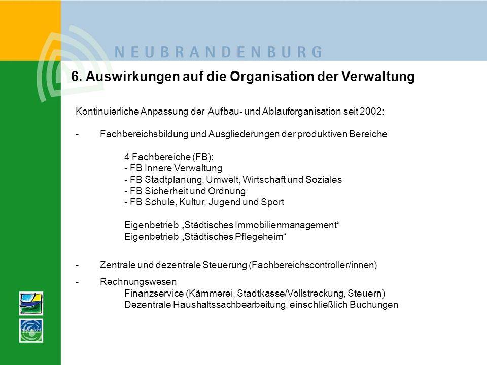 6. Auswirkungen auf die Organisation der Verwaltung