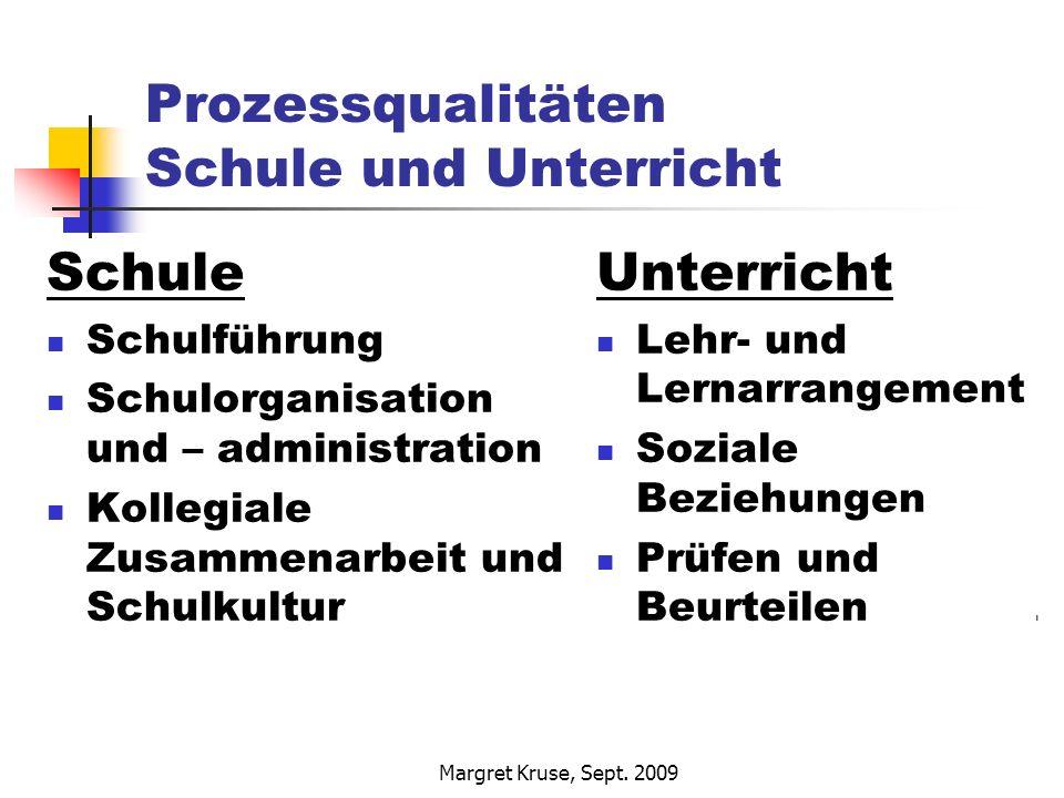 Prozessqualitäten Schule und Unterricht