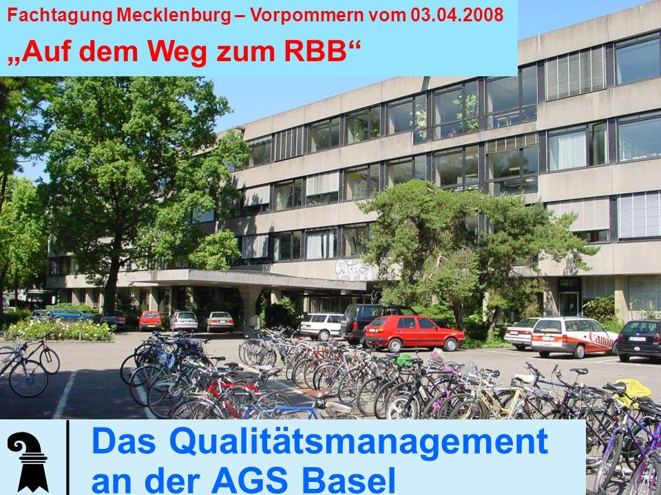 Das Qualitätsmanagement an der AGS Basel