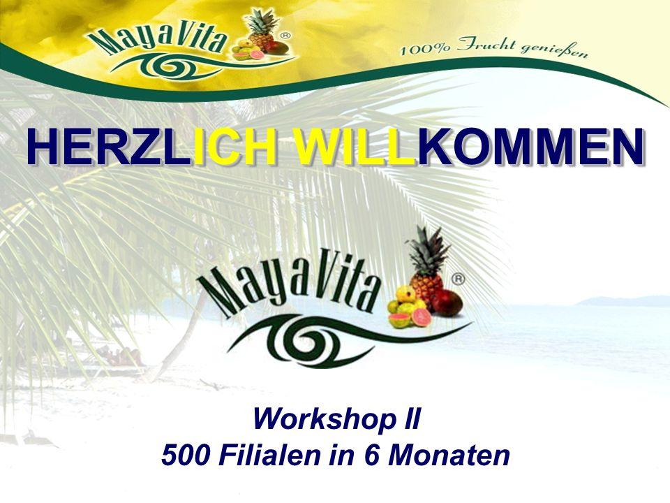 HERZLICH WILLKOMMEN Workshop II 500 Filialen in 6 Monaten