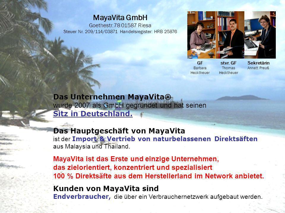MayaVita GmbH Goethestr.78 01587 Riesa