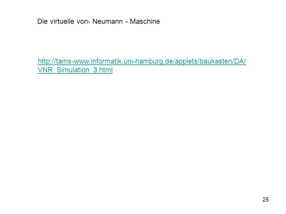 Die virtuelle von- Neumann - Maschine