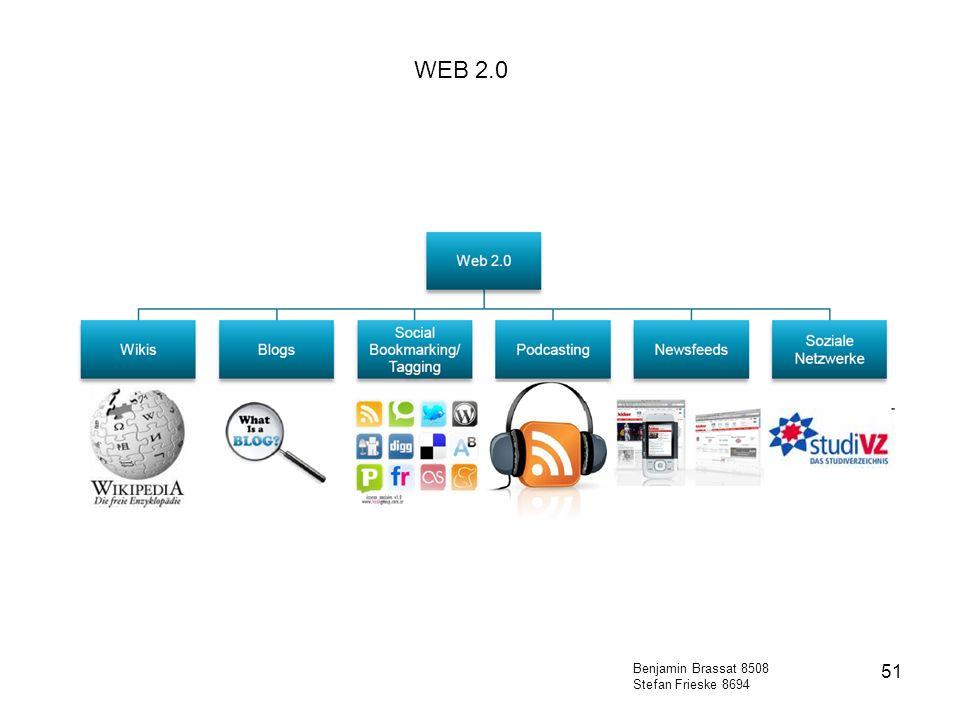 WEB 2.0 Benjamin Brassat 8508 Stefan Frieske 8694