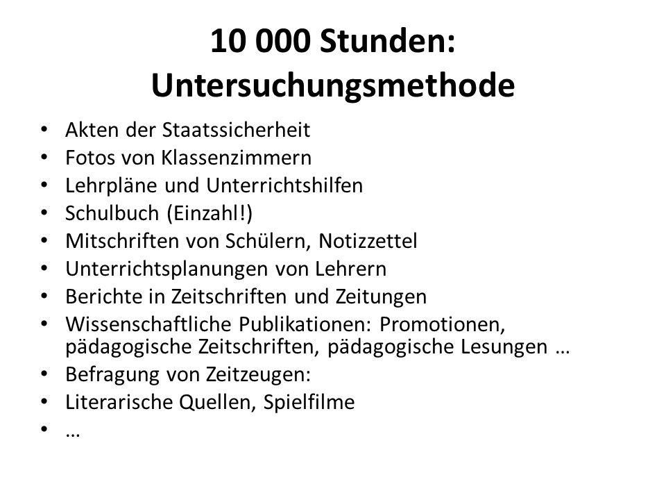 10 000 Stunden: Untersuchungsmethode