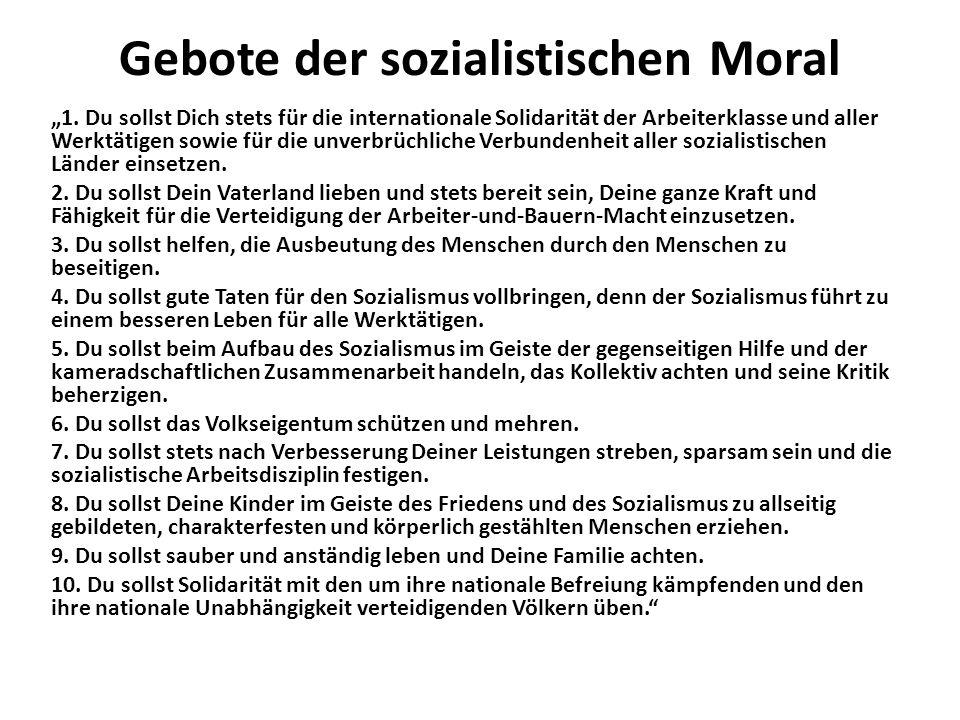 Gebote der sozialistischen Moral