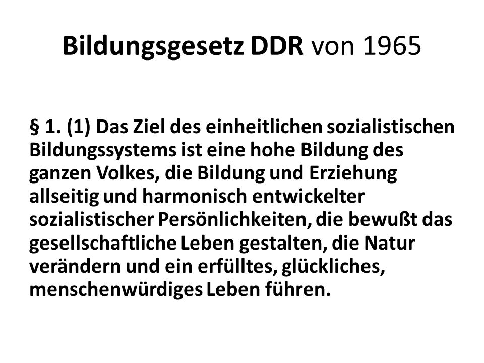 Bildungsgesetz DDR von 1965