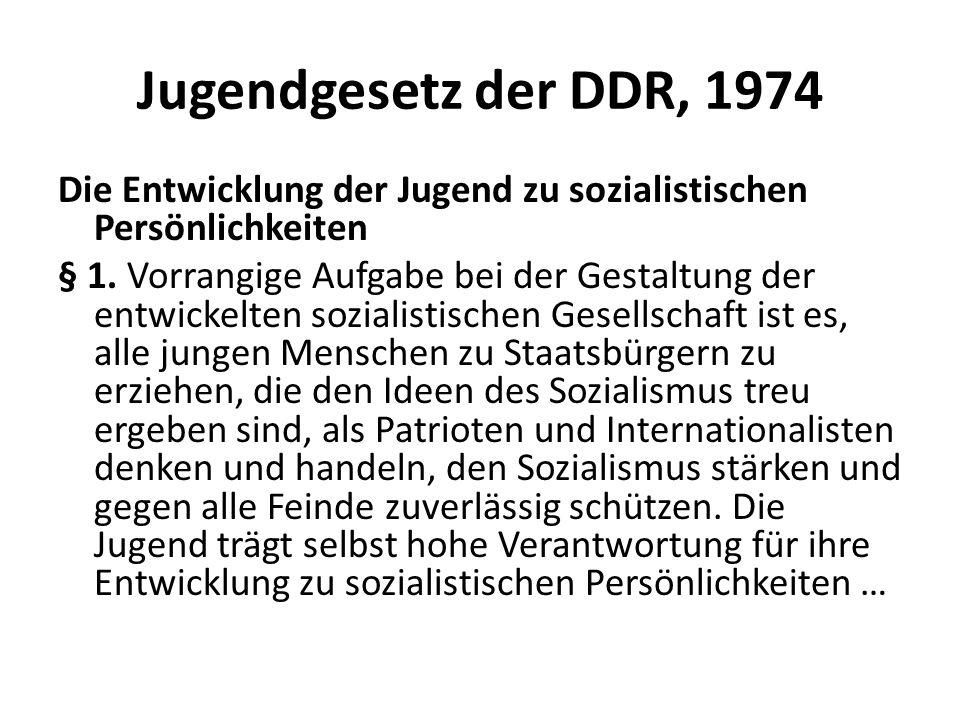 Jugendgesetz der DDR, 1974