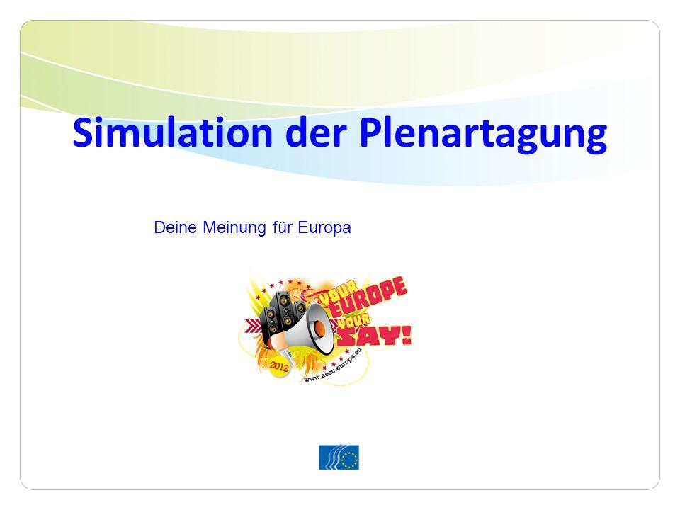 Simulation der Plenartagung