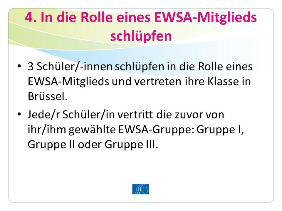 4. In die Rolle eines EWSA-Mitglieds schlüpfen