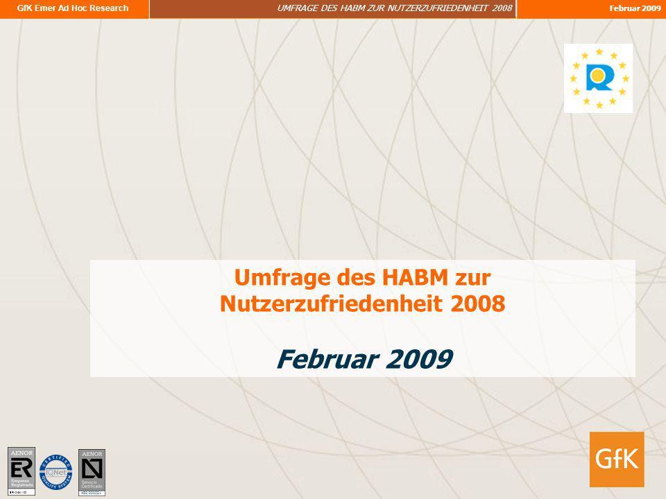 Umfrage des HABM zur Nutzerzufriedenheit 2008