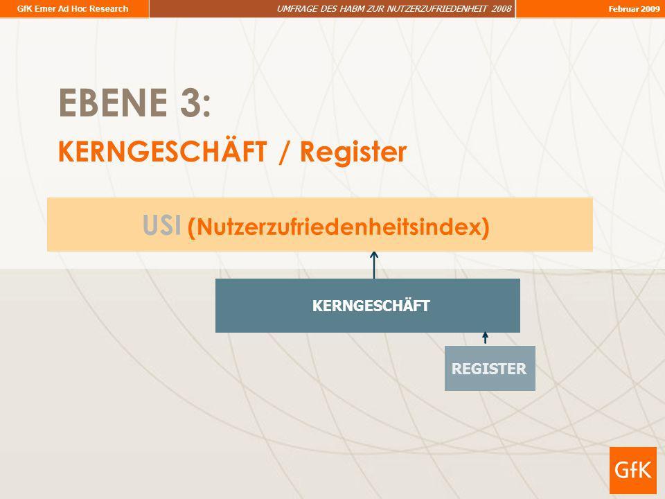 EBENE 3: KERNGESCHÄFT / Register