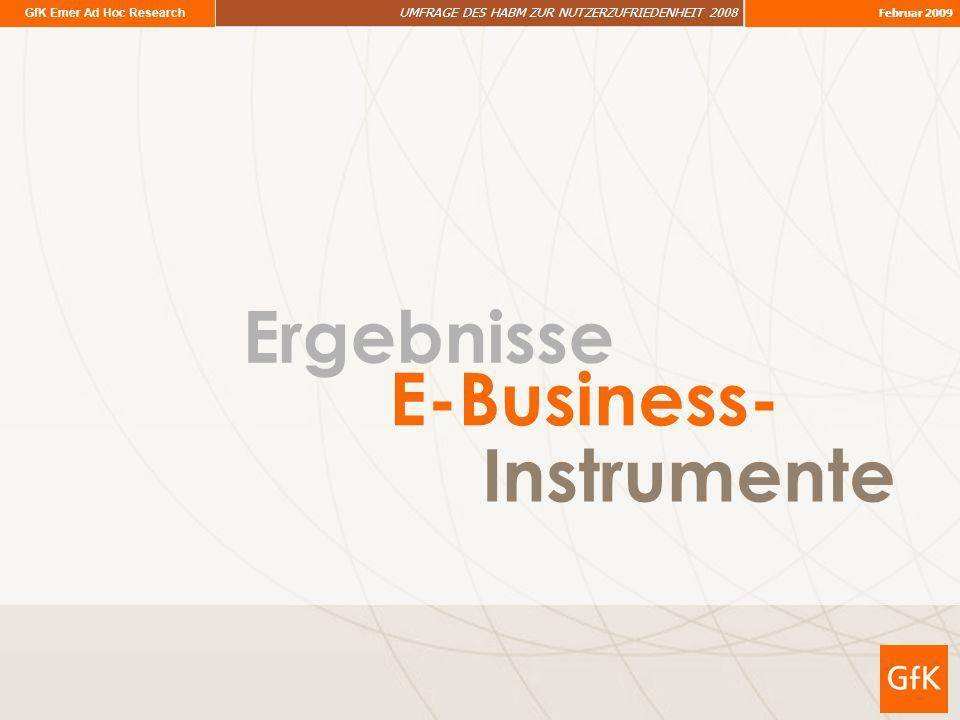 Ergebnisse E-Business- Instrumente