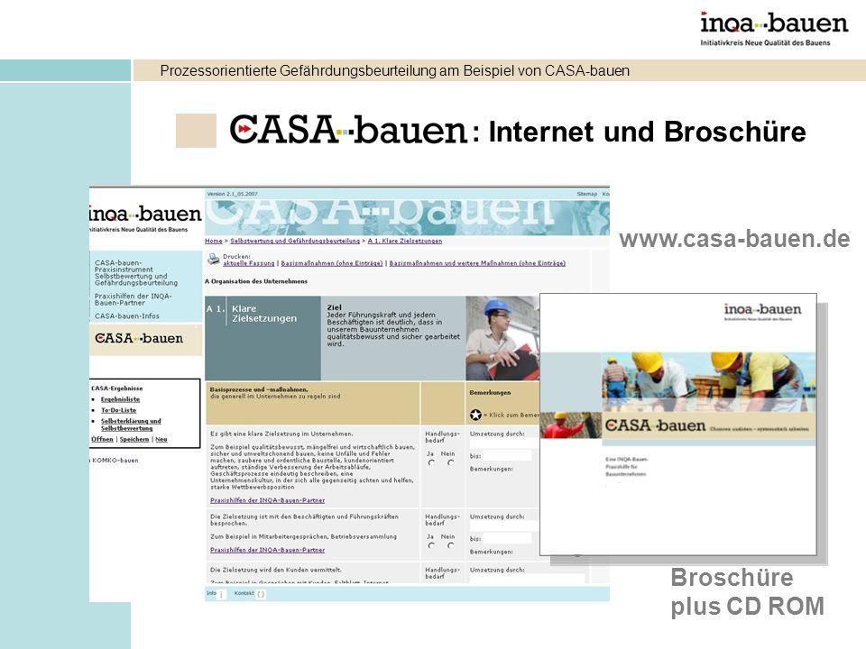 : Internet und Broschüre