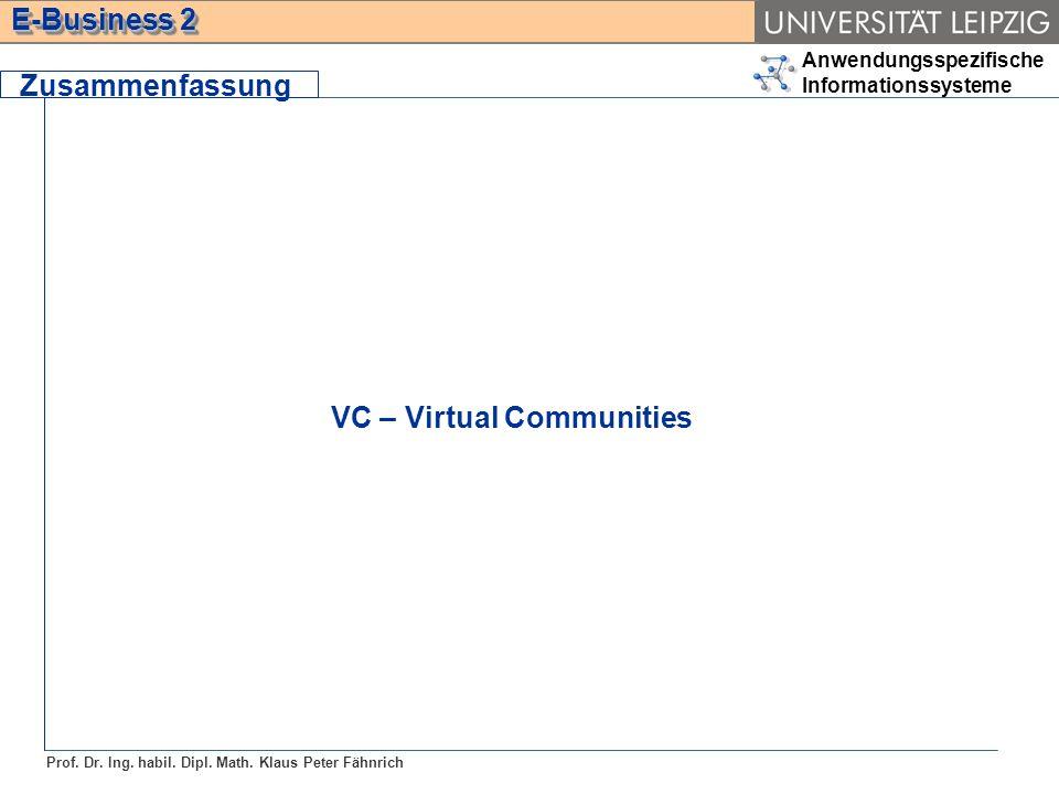 Zusammenfassung VC – Virtual Communities
