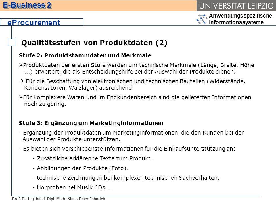 eProcurement Qualitätsstufen von Produktdaten (2)