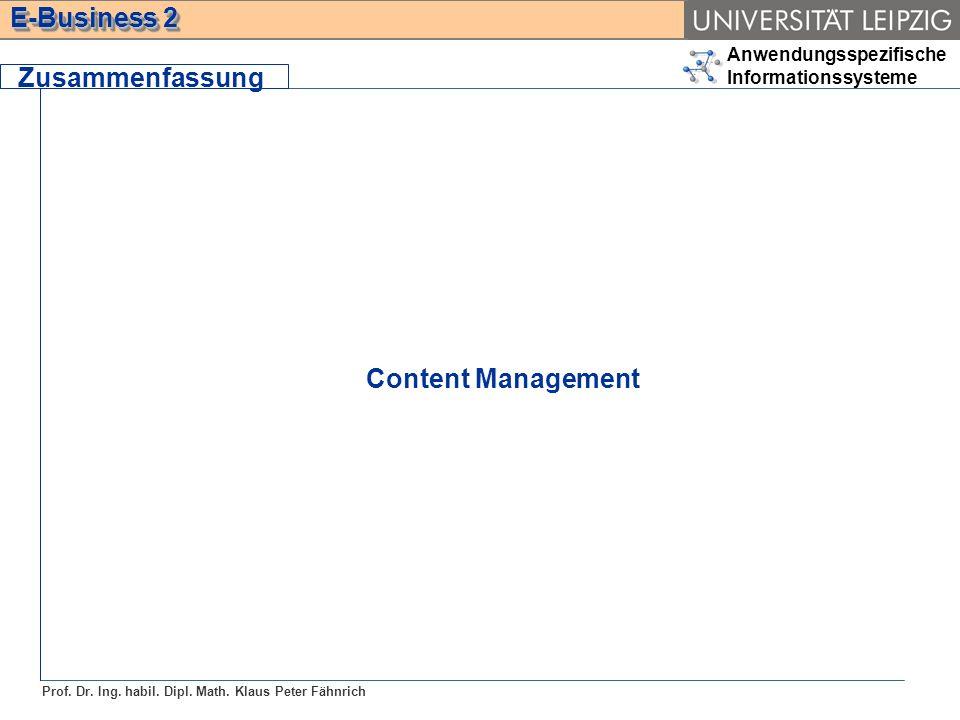 Zusammenfassung Content Management
