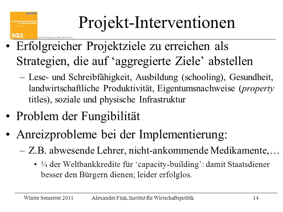 Projekt-Interventionen