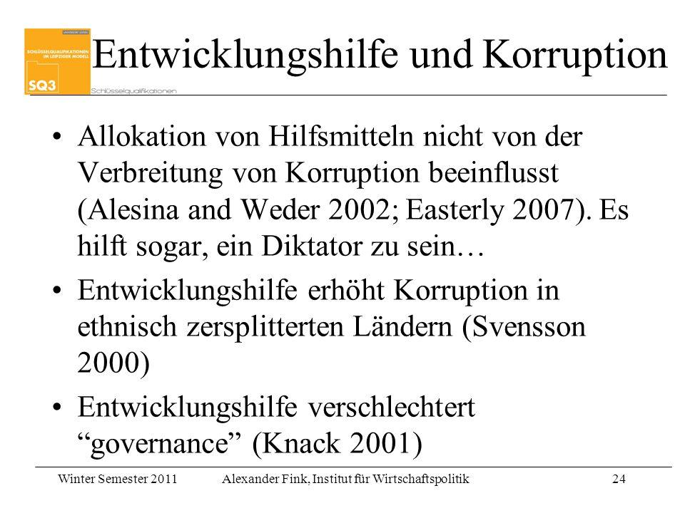Entwicklungshilfe und Korruption