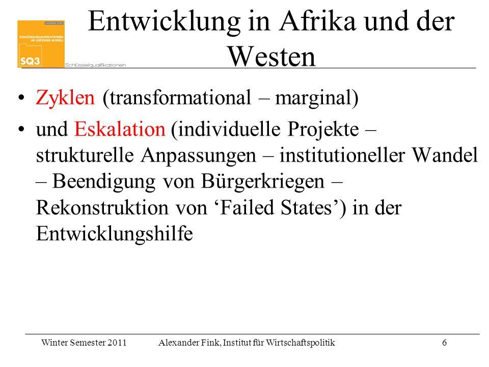 Entwicklung in Afrika und der Westen