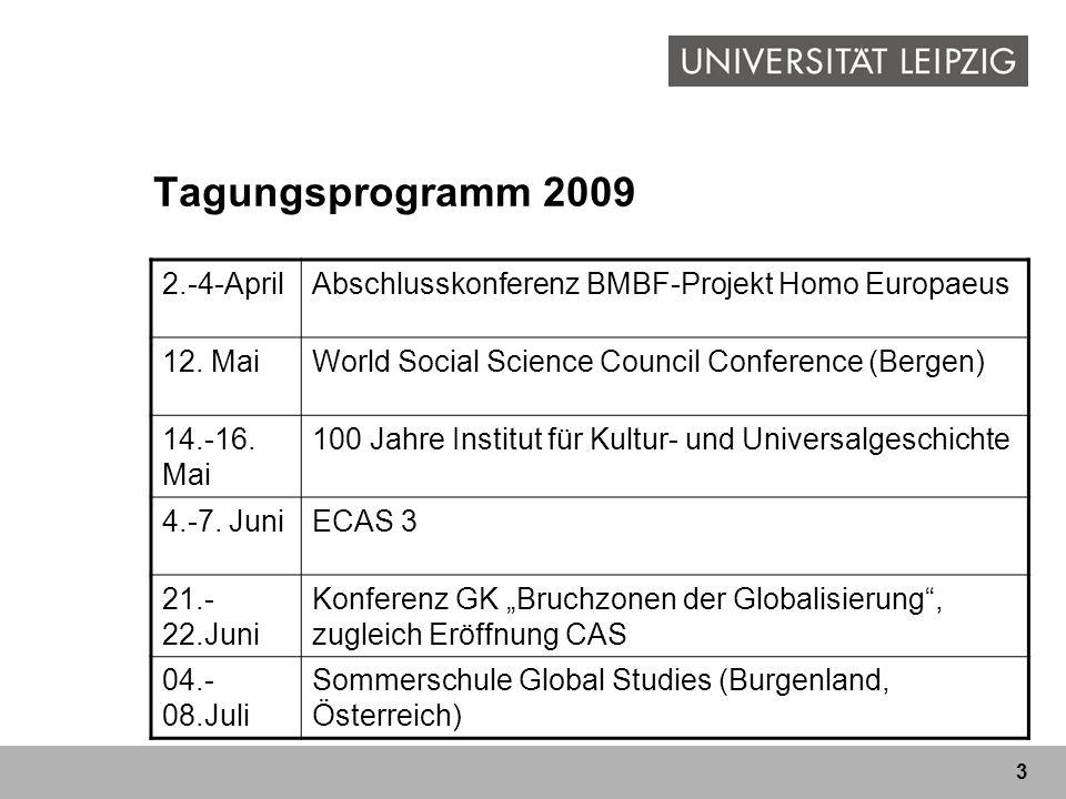 Tagungsprogramm 2009 2.-4-April