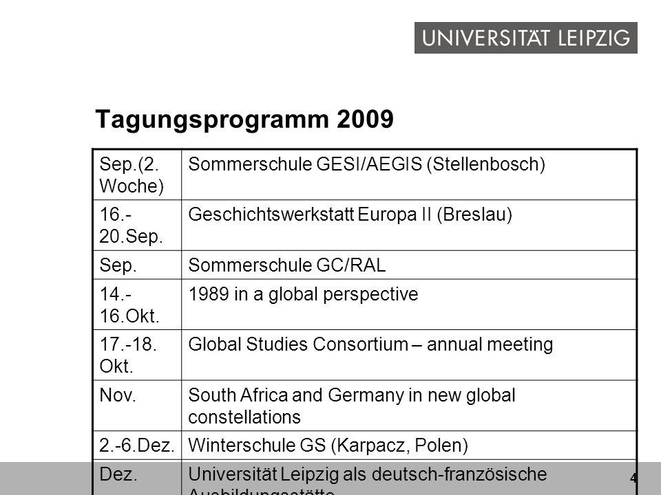 Tagungsprogramm 2009 Sep.(2.Woche)