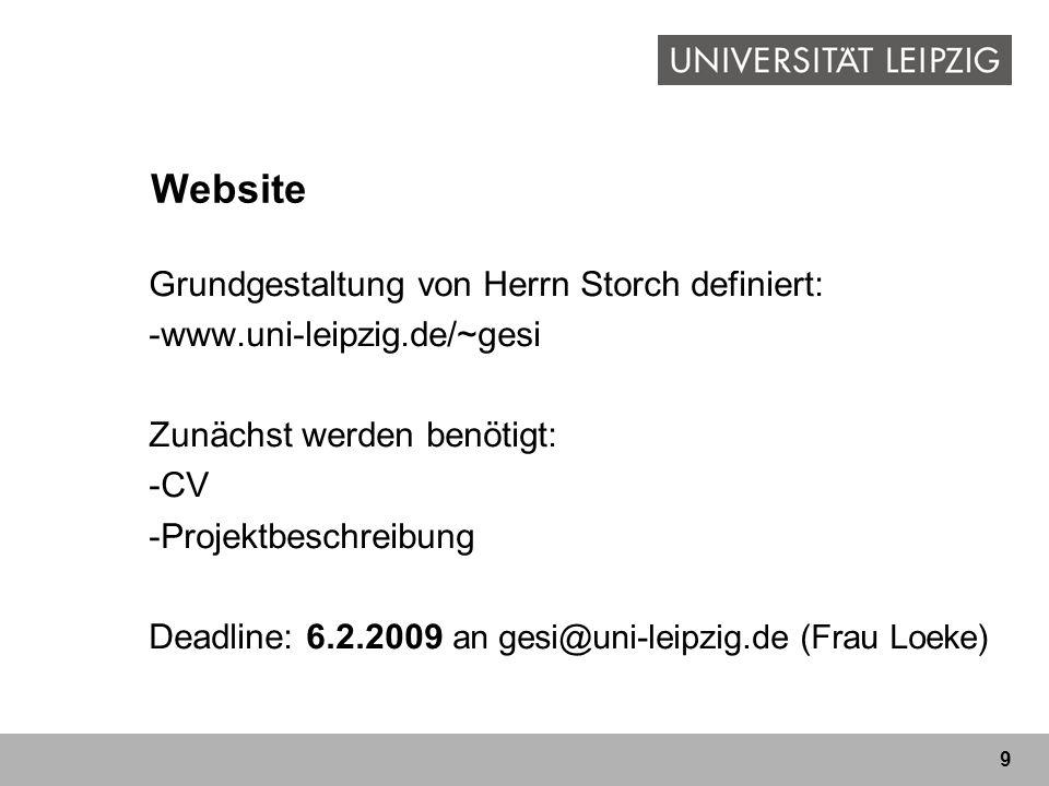 Website Grundgestaltung von Herrn Storch definiert: