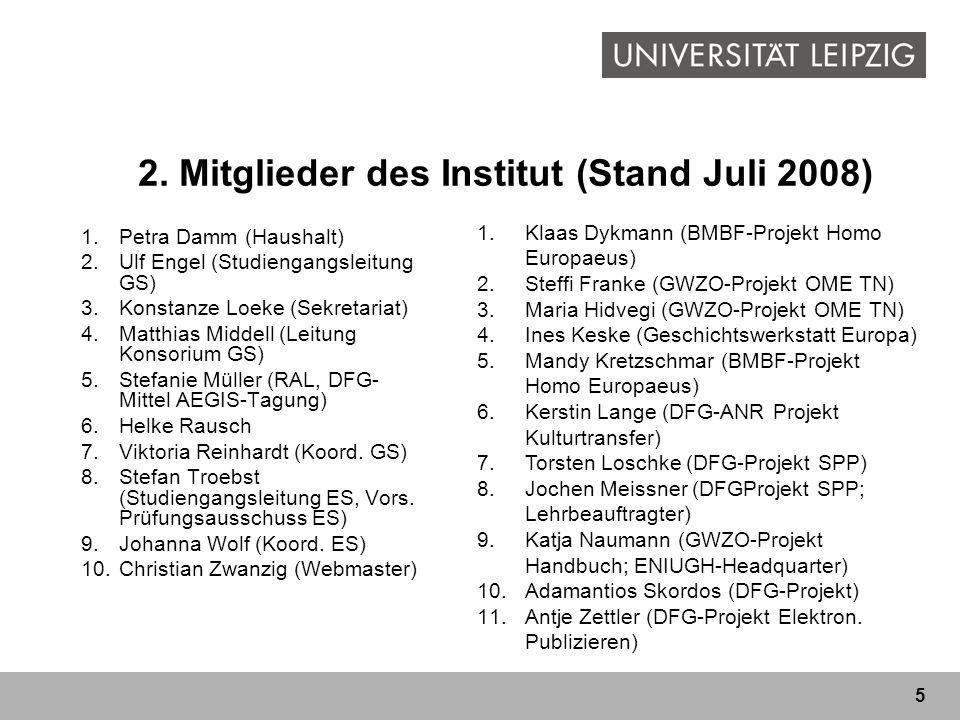 2. Mitglieder des Institut (Stand Juli 2008)