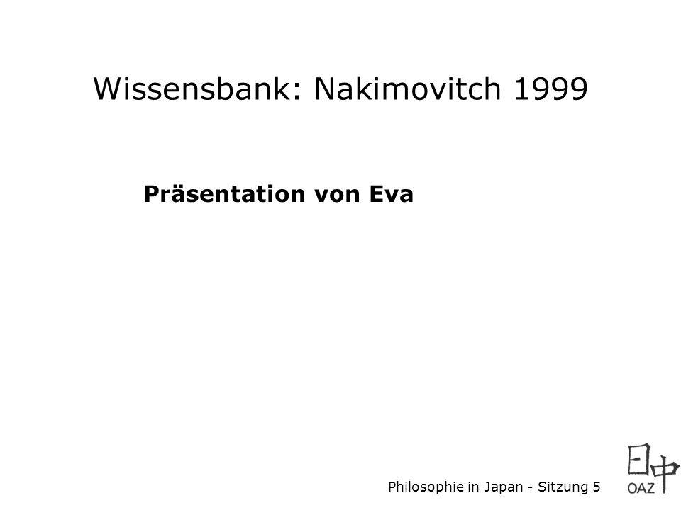 Wissensbank: Nakimovitch 1999