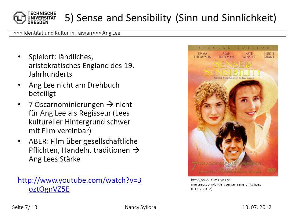 5) Sense and Sensibility (Sinn und Sinnlichkeit)