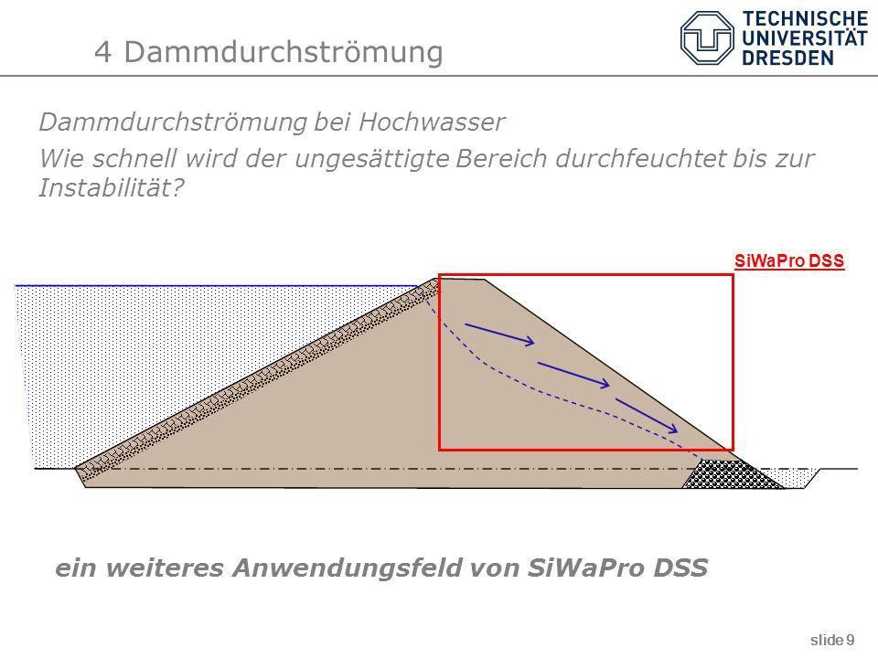 4 Dammdurchströmung Dammdurchströmung bei Hochwasser