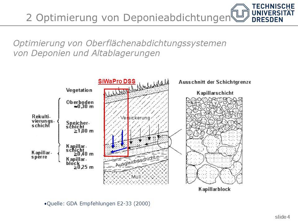 2 Optimierung von Deponieabdichtungen