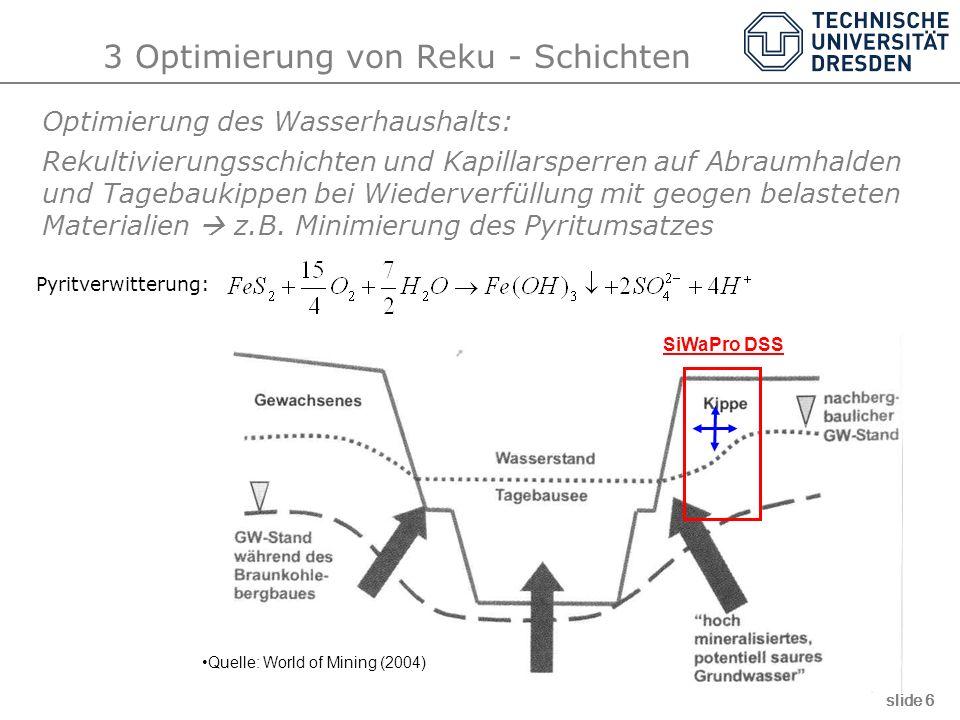 3 Optimierung von Reku - Schichten