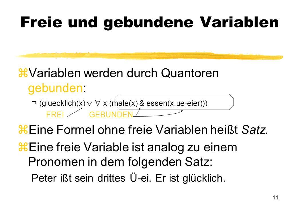 Freie und gebundene Variablen