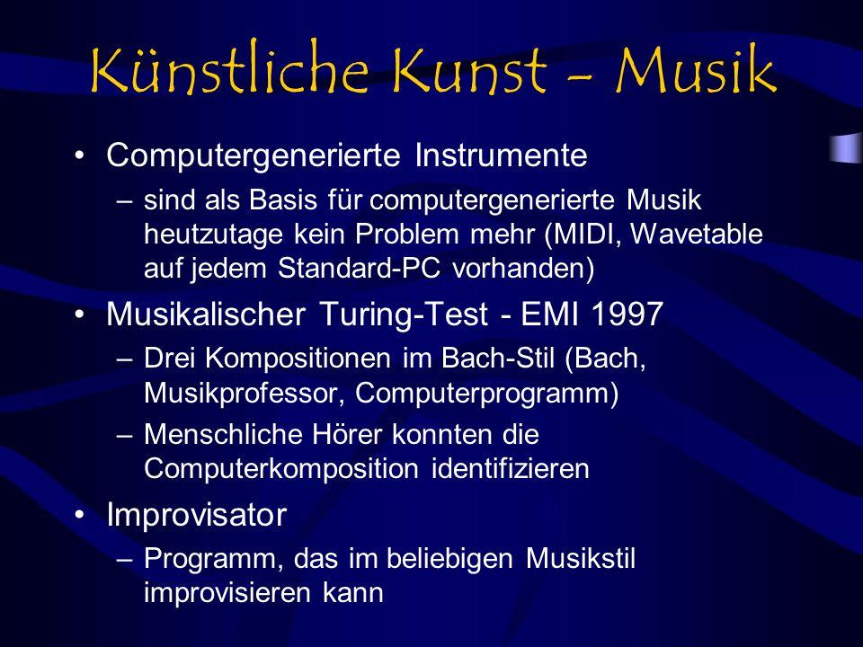 Künstliche Kunst - Musik